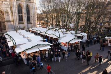 Vue d'ensemble sur le Marché de Noël de Rouen